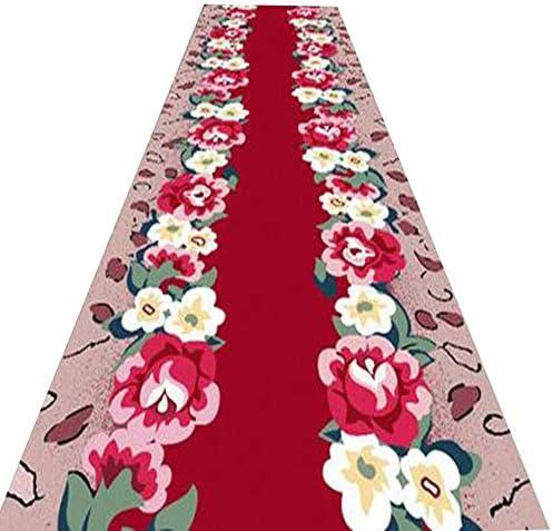 YANZHEN-tappeto Passatoia per Corridoio Corridor Soft Fabric, Antifouling Cutable Blended Fabric, Soft Multi-Dimensione, Length Customized (Coloreee   rosso, Dimensioni   0.9 x 3m) b54b01