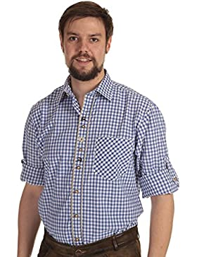 Orbis Trachtenhemd Herren Hemd Tracht kariert Hemd langarm zum krempeln