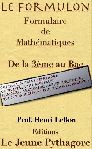 Le Formulon (Trigo) (Les Formulaires du prof. LeBon t. 1)