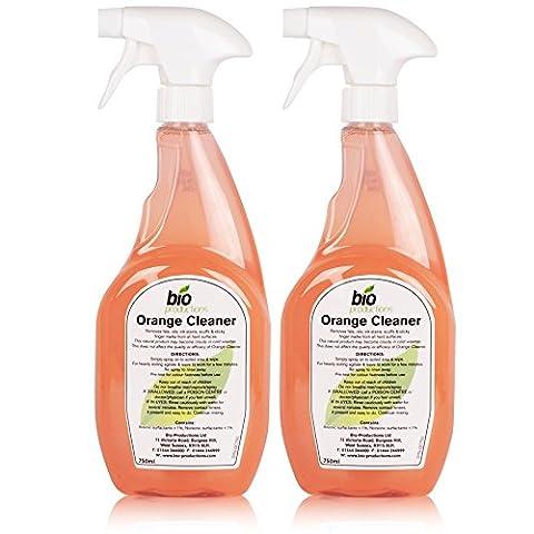 2 Professional Bottles Of Natural Orange Cleaner & Degreaser To