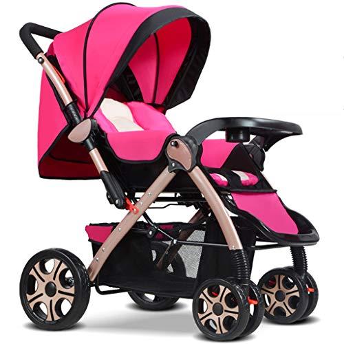 Jian E- Poussette bébé bidirectionnelle Peut s'asseoir inclinable Ultra léger Portable Pliable 0-3 Ans Enfant à Quatre Roues bébé Parapluie léger système de Voyage Poussette de Voiture -/