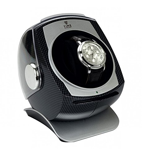 CARBON DOME Automatic Single Watch Winder Automatische Uhrenbeweger - 4 Timer Modi Premium-Silent-Motor Carbon Style Finish KA083-CB (Motor Dome)