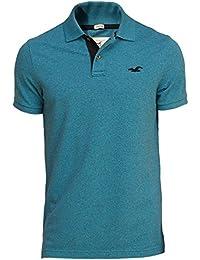 Hollister - Homme - Stretch Contrast Pique Polo Top Shirt - Manche Courte
