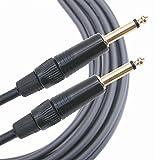 Mogami MGINS0300BL Câble Instruments Jack 6.3mm droit (3 m)