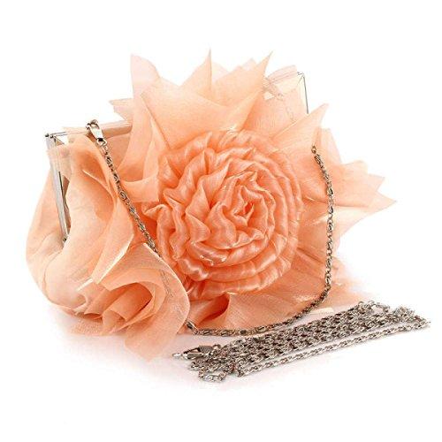 Fashion Bankett Tasche Rosen Abendtasche Mode Abendessen Beutel-Brautbeutel Champagne
