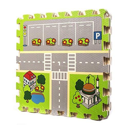 Meitoku Kinder Puzzlematten Strassen Design