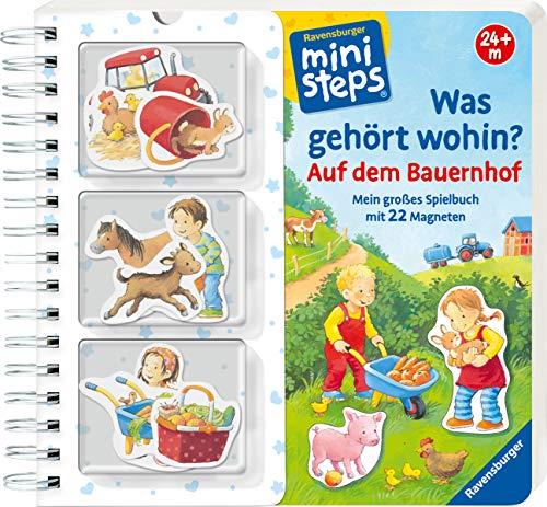 Was gehört wohin? Auf dem Bauernhof: Mein großes Spielbuch mit 22 Magneten. Ab 24 Monaten (ministeps Bücher)