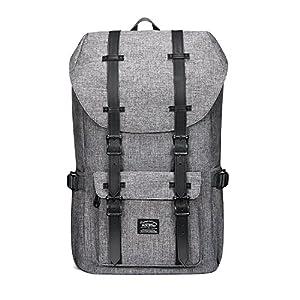 KAUKKO Rucksack für Städtetrips, Schule, Fahrrad und Wandertouren mit Laptopfach für 15 Zoll Notebook den täglichen…