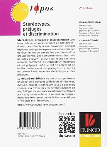 Stéréotypes, préjugés et discriminations - 2e éd.