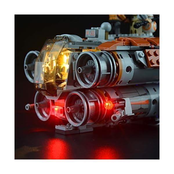 Lightailing Set di Luci per (Star Wars Quadjumper Di Jakku) Modello da costruire - Kit luce led compatibile con Lego… 5 spesavip