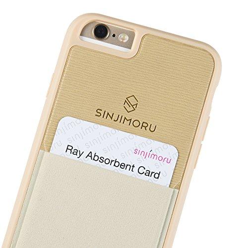 Sinjimoru iPhone 6 / 6s Wallet Case, iPhone 6 Hülle mit Kartenfach/iPhone 6 Schutzhülle mit Smart Wallet Kartenhalter. Sinji Pouch Case für iPhone 6 / 6s, Beige.