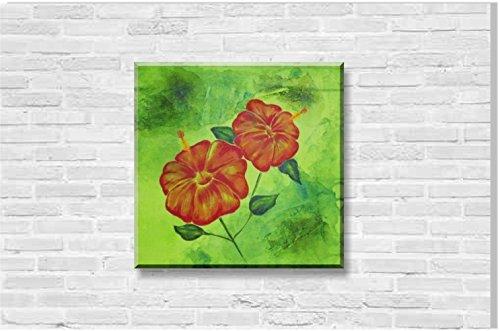 hibiskus-original-mixed-media-acrylmalerei