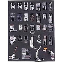 Aozzy 32pcs doméstica Máquina de coser Presser Foot Kit para BROTHER, BUTTERFLY, SINGER,