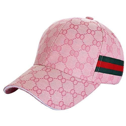 Imagen de ukerdo al aire libre deporte equipado  para hombre béisbol sombreros accesorios (rosado)
