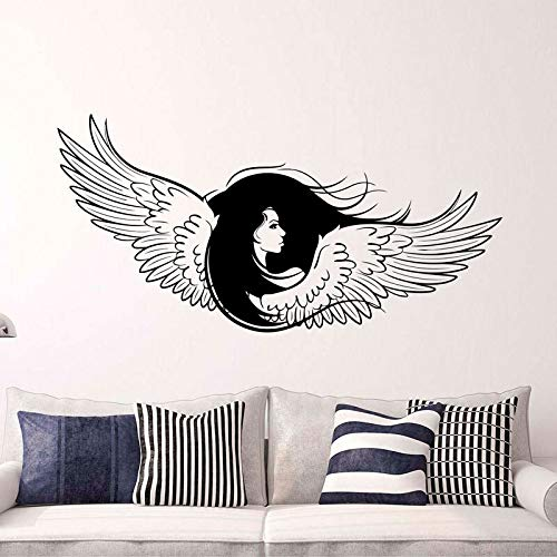 Memorial Guardian Inspirational Angel Wings Aufkleber Neugeborene Frau Große Flügel Vinyl Aufkleber GOTHIC ENGEL Für Wohnzimmer 116X57CM