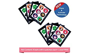 Safe-O-Kid Pack of 48(+6 Free) Assorted Shaped Mosquito Repellent Patches