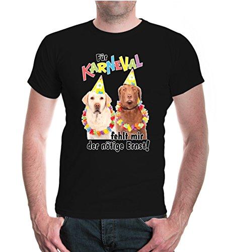 buXsbaum® T-Shirt Für Karneval fehlt mir der nötige Ernst Black-z-direct
