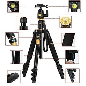 AFAITH portatile professionale di magnesio in lega di alluminio treppiede monopiede e testa della sfera per DSLR SLR Canon Nikon Pentax Sony Treppiede Q-555