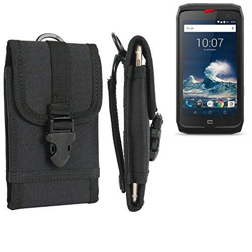 K-S-Trade Handyhülle kompatibel mit Crosscall Action-X3 Gürteltasche Handytasche Gürtel Tasche Schutzhülle Robuste Handy Schutz Hülle Tasche Outdoor schwarz
