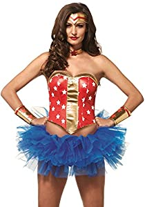 Leg Avenue- Mujer Maravilla, Color rojo, Medium (EUR 38-40) (A275902217)