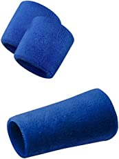 Verceys Blue Sports All Weather And Washable Stuff Wrist Bands - Pack of 3