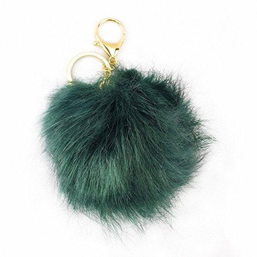 Sonia Originelli Schlüsselanhänger Bommel Tasche Fellpuschel Kunstpelz Farbe Grün