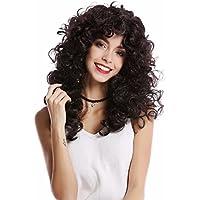 WIG ME UP ® - 0051-P30/P103 Peluca mujer larga Halloween melena rizos