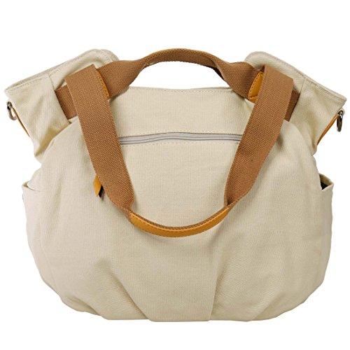 BMC Umhängetasche, Damen, Leinen, zwei Henkel, Shopper/ Handtasche Bright Khaki