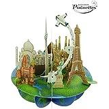 Santoro 3d Pirouette Tarjeta de felicitación, diseño de viaje por el mundo