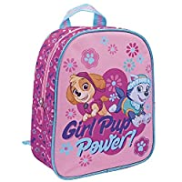 PERLETTI - 13528 - Mini backpack girl Paw Patrol Girl Pup Power - School and Kindergarten bag for Kids with Skye and Everest print - Pink - 24x20x10 cm