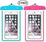 Universal wasserdichte Schutzhülle, ibarbe Handy Dry Bag Pouch für iPhone 76S 6Plus SE 5S 5C 5, Galaxy S8S7S6Edge, Note 54, LG G6G5, HTC 10, Sony Nokia, diagonal Geräte bis 14,5cm
