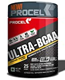 PROCEL ULTRA-BCAA Powder Amino Acid Supplement with 2x Leucine & Beta-Alanine 400g (Orange-Mango)