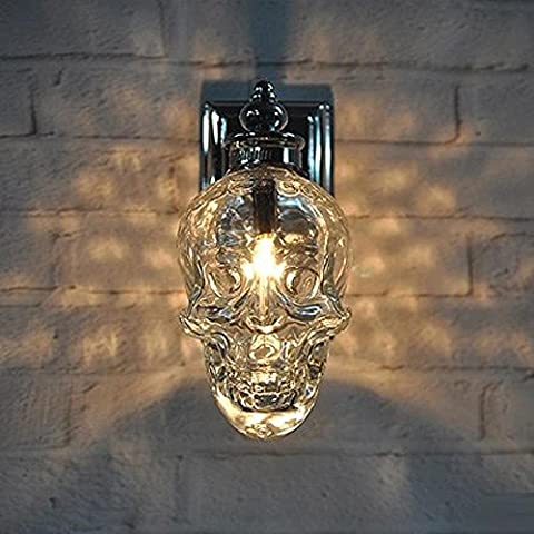 BJVB Cráneo cabeza Crossbones Bar Cafe corredor LED lámpara pared lámparas pared apliques de pared w12 * h20cm