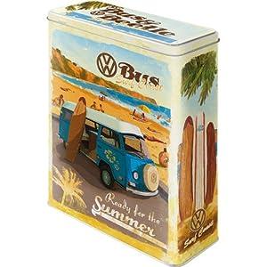 Nostalgic-Art 30317 Volkswagen - VW Bulli & Beetle - Ready for the Summer, Vorratsdose XL