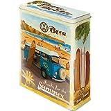 Nostalgic Art 30317 Volkswagen VW Bulli, Beetle - Ready for the Summer / Beach, Vorratsdose XL
