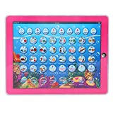 Zerodis Mini Kids Smart Learning Pad Giocattolo educativo bilingue Tablet spagnolo-inglese con con luci a LED caldo Touch-and-Teach regalo educativo per i bambini Toddlers(rosa)