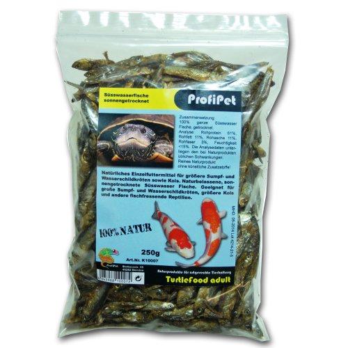 ProfiPet Trockenfische TurtleFood adult, 250g, Futter für Wasserschildkröten, Koi, fischfressende Reptilien