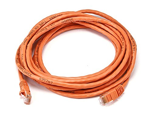 Monoprice 24AWG Cat5e Ethernet Netzwerkkabel (350 MHz, UTP, Crossover), blankes Kupfer Orange 14ft - 350-mhz-cat5e-crossover