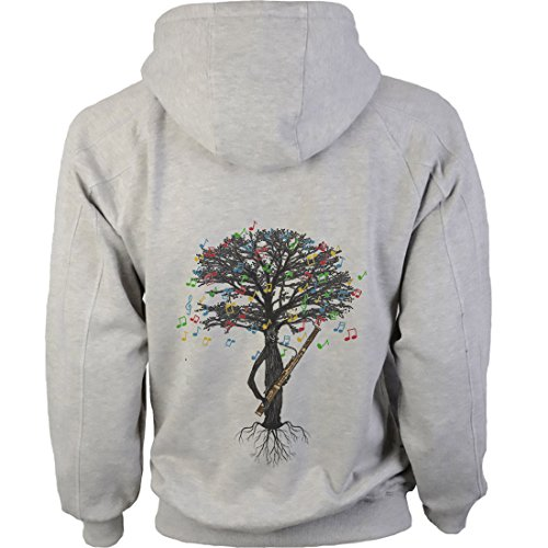 art2tshirt Bassoon Hoody Musical Tree Woodwind Bassoonist in Sizes Small to XXL (Small) Grey