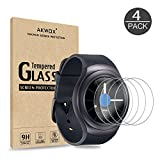 Akwox [4 Stück] Schutzfolie aus Panzerglas für Samsung Gear S2 Classic & Gear Sport, 0.33mm 9H Härte Kratzfest Panzerglasfolie für Samsung Gear S2 (39.9MM) Bildschirmschutzfolie