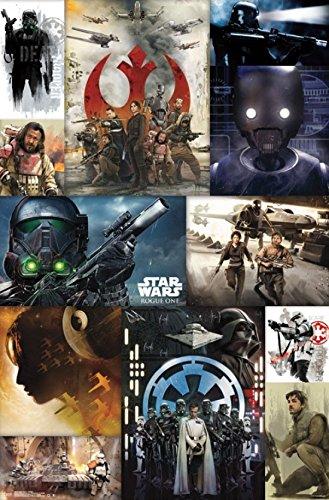 Preisvergleich Produktbild Star Wars Rogue One™ - Collage Poster Drucken (55,88 x 86,36 cm)