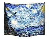 A.Monamour Stoff Sternenhimmel Nachtdruck Vincent Van Gogh Tapisserie Wand Hängen Für Schlafzimmer Wanddekorationen Wanddekor Wohnaccessoires Deko Wandteppiche