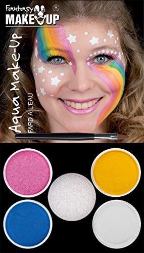 Einhorn Schminke Aqua make up 4 Farben
