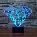 WangZJ Led Nachtlicht / 3d Visuelle Illusion Lampe/Nacht Baby Schlaf Nachtlicht / 7 Farbwechsel/usb Powered/Aerobic Muscle