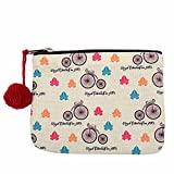 The Crazy Me Vintage Cycle Makeup/Coin Pouch