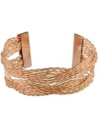 FireFlies Rose Golden Alloy Stylish & Trendy Bracelet For Women's & Girl's (BR0024-ROSEGolden)