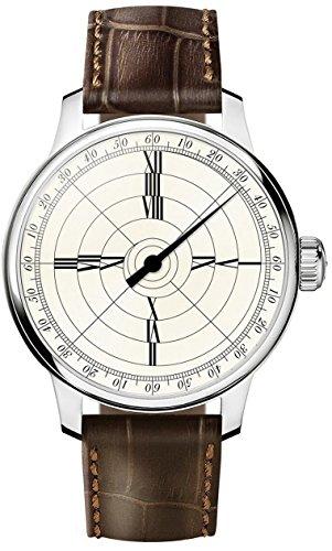 Meistersinger Reloj de Hombre Manual Caja de Acero dial Marfil ED-FR4H