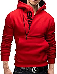 787b367155d08 Haroty Homme Pullover Hoodie Pull à Capuche Swag Personnalisé Chaude Slim  Fit Manches Longues Grande Taille
