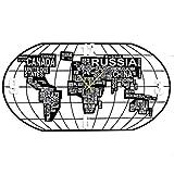 RUXMY Weltkarte Wanduhr European Modern Minimalistisches Stil Kinderzimmer Wohnzimmer Schmiedeeiserne Einseitige Stille Quarz Hängeuhr (39 Zoll)