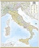 Italia Amministrativa e Stradale Carta Murale [97x122 cm] Belletti